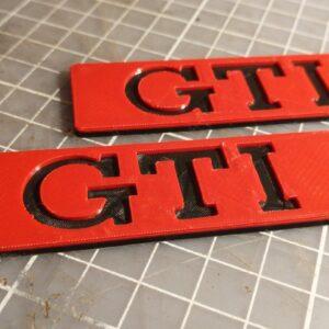 GTI zenkliukai - juoda raudona